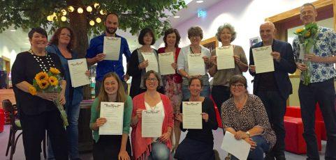 Certificaten voor nieuwe schrijfdocenten